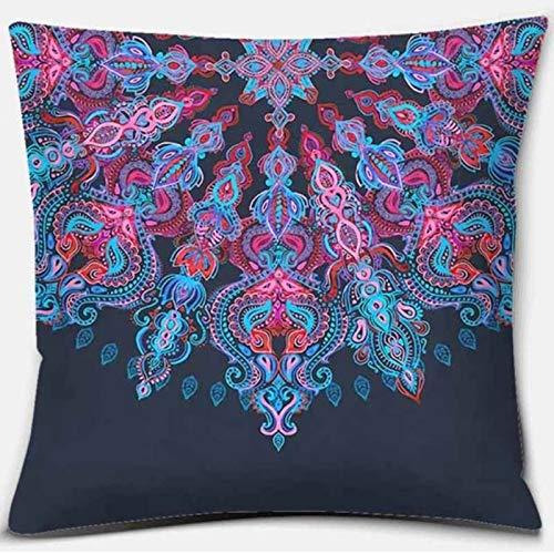 Mandala Series Z-45 Funda de almohada cuadrada impresa, decoración del hogar, funda de cojín para sofá de coche (45 cm x 45 cm)