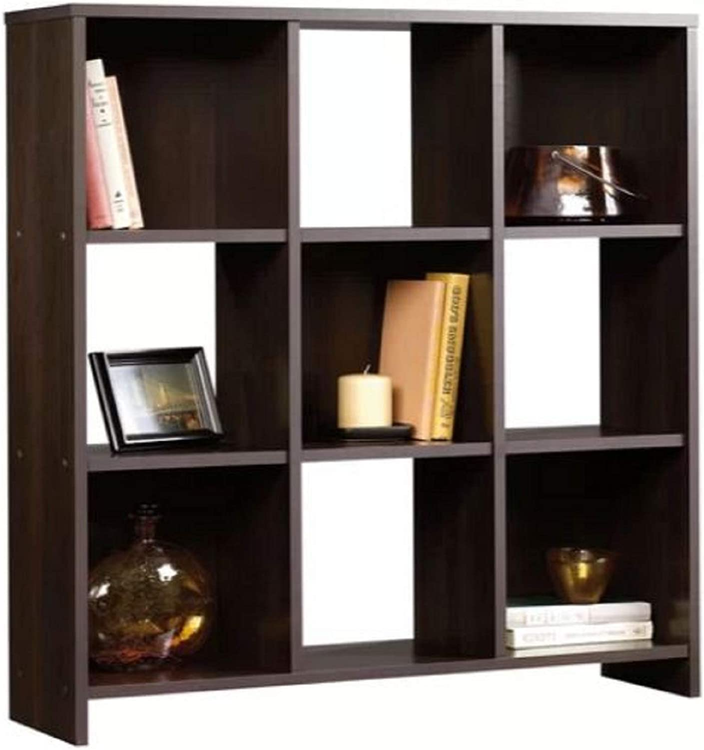 Cube Unit Bookcase. Ryker 5 of Which Have Backing 9 Cube Unit Bookcase Crafted from Manufactured Wood with a Clean-Lined Silhouette and Cinnamon Cherry Finish
