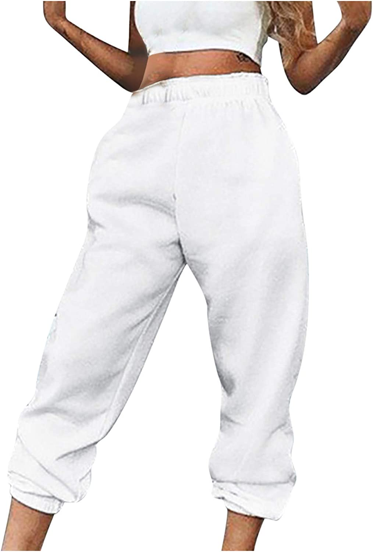 FUNEY Fashion Lightweight High Waist Sweatpants Cozy Joggers Pants Active Yoga Lounge Pants Trousers for Women