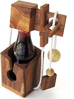 CASSE TÊTE pour BOUTEILLE de Bière. Jeu puzzle en bois massif aux normes CE, marque française Le Délirant®, difficulté 3/...