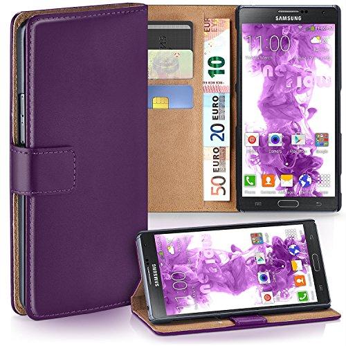 MoEx Cover a Libretto Compatibile con Samsung Galaxy Note 3 Neo | Fessura Carta + Soldi, Supporto, Lilla