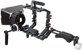 Filmcity Shoulder Support Rig kit Matte Box Camera Cage Hard Stop Follow Focus for DV DSLR HDV Nikon Sony Panasonic Canon ...
