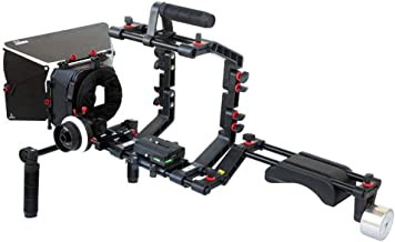 Filmcity Shoulder Support Rig kit Matte Box Camera Cage Hard Stop Follow Focus for DV DSLR HDV Nikon Sony Panasonic Canon ...