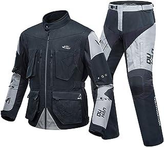 SHOULIEER Veste de Moto Hommes Veste de Motocross Respirante Veste d'équitation de Moto Ensemble d'équipement de Protection