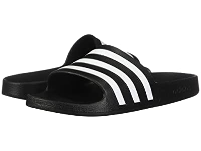 adidas Adilette Aqua (Black/White/Black) Women