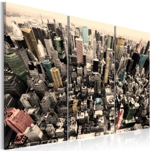 murando - Cuadro en Lienzo 120x80 cm Impresión de 3 Piezas Material Tejido no Tejido Impresión Artística Imagen Gráfica Decoracion de Pared New York 030111-9