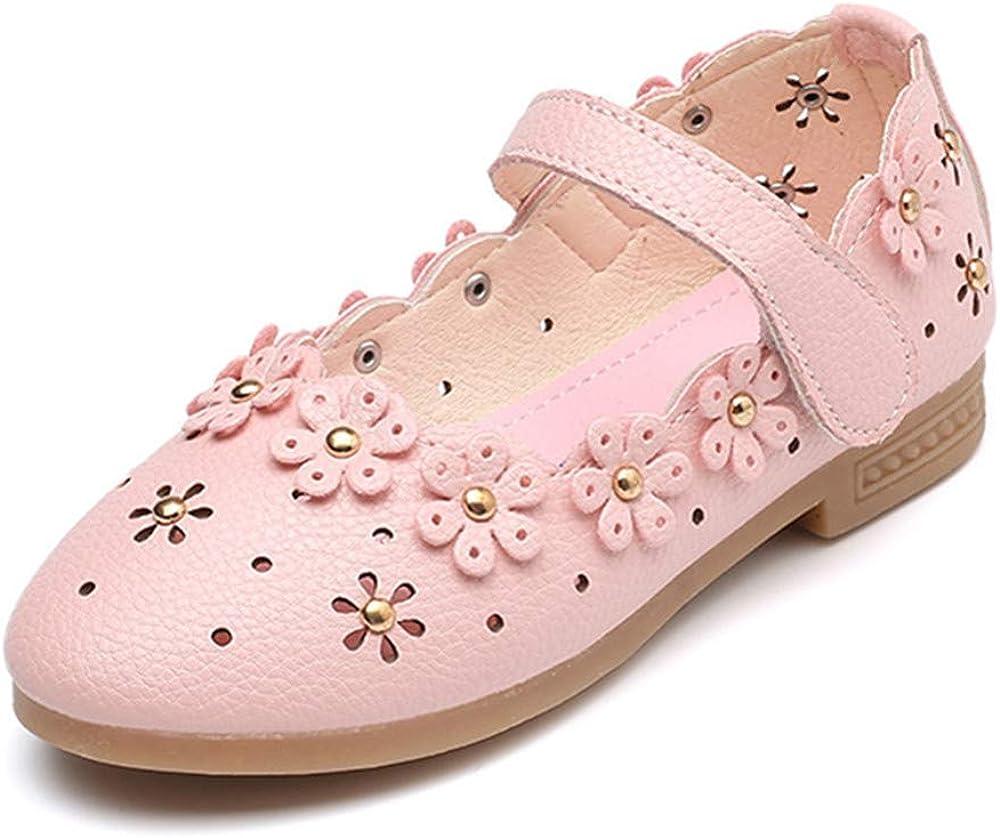 BININBOX Wholesale Girls Hollow famous Dress Shoes Flat Sho Princess Flower