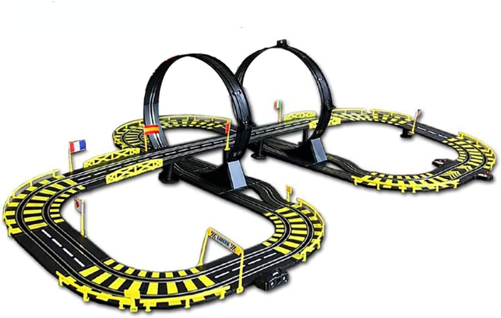 LINGLING Slot Car Race Track Racing Toy Remote Control Car Large