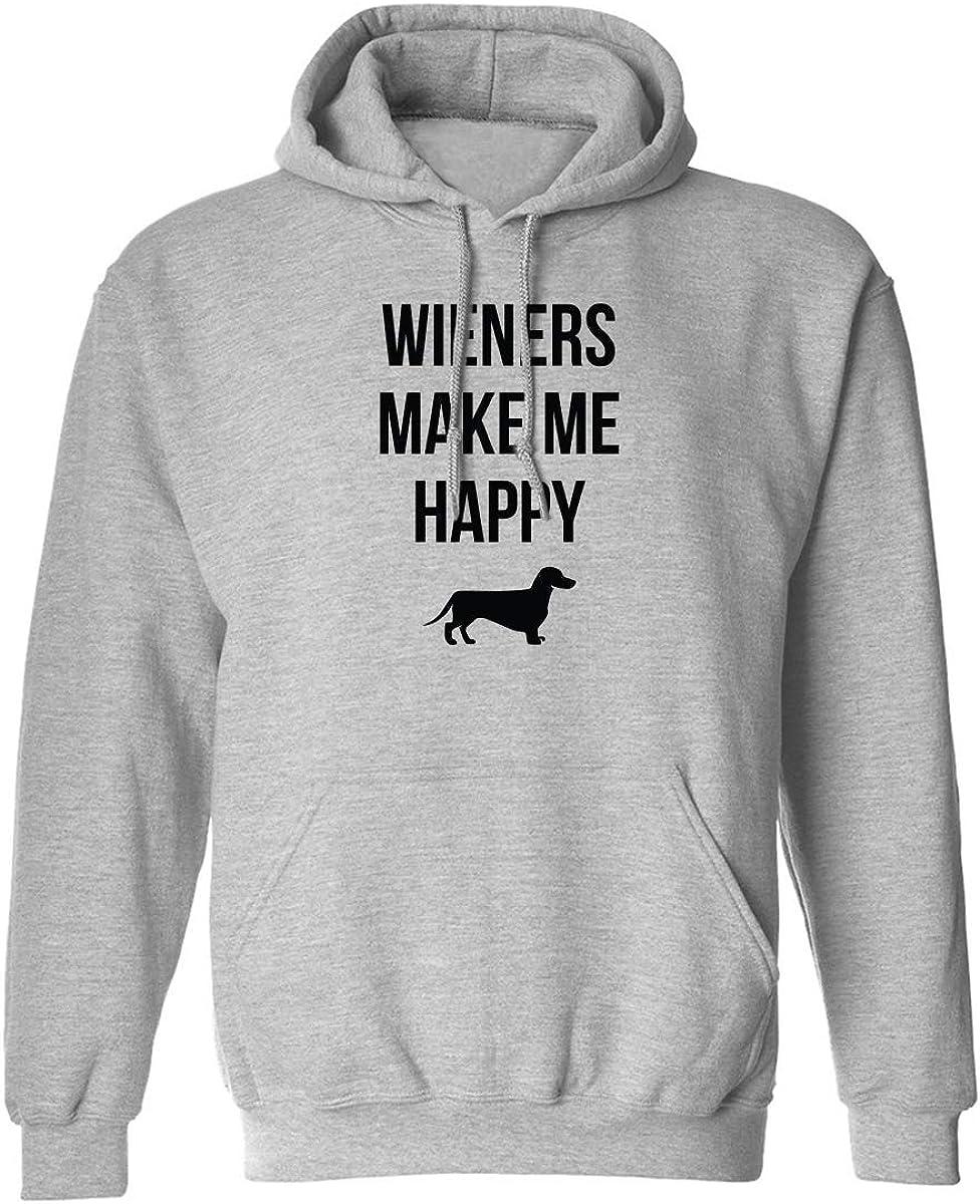 Wieners Make Me Happy Adult Hooded Sweatshirt