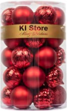 KI Store 34ct Christmas Baubles Ball Ornaments Shatterproof Christmas Tree Decorations for Xmas Party Wedding Decor Orname...