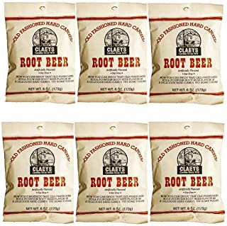Claeys Old Fashioned Hard Candy - 6 Pack - Root Beer - Since 1919