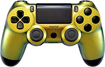 eXtremeRate Green and Gold Chameleon Front Housing Shell Faceplate for Playstation 4 PS4 Slim PS4 Pro Controller CUH-ZCT2 ...
