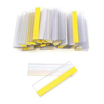 100 Stück Tickethalter selbstklebend 100 x 21 mm transparent Etikettenhalter