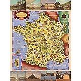 Batany 1947 Pictorial Map France Railway Tourism Extra Large Art Print Wall Mural Poster Premium XL Carte Chemin de Fer Tourisme Grand Art Mur Affiche