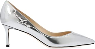 JIMMY CHOO Luxury Fashion Womens ROMY60JCMSILVERWHITE Silver Pumps | Fall Winter 19