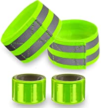 Reflective Bands for Wrist, Arm, Ankle, Leg. High Visibility Reflective Gear for Night Walking, Cycling and Running. Safet...