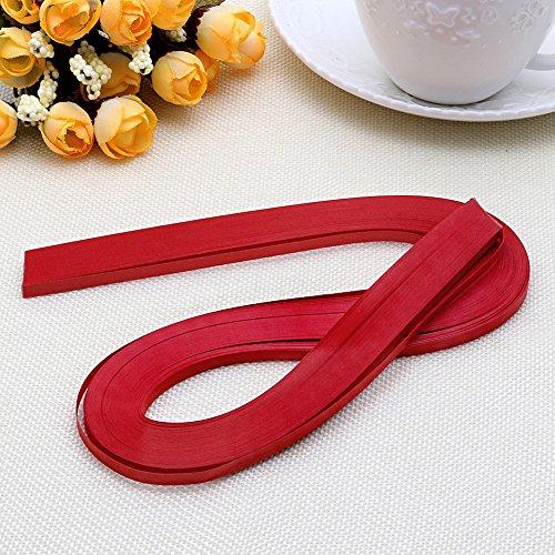 Haorw Papier Quilling Set 120-Streifen 52cm Länge/Streifen Papierbreite 5mm (rot)