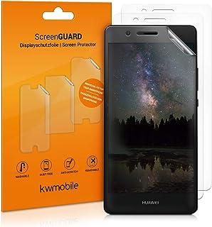kwmobile 3x pellicola salvaschermo compatibile con Huawei P9 Lite - Film protettivo proteggi telefono - protezione antigra...