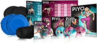Chalene Johnson's PiYo Deluxe Kit - DVD Workout with Exercise Videos + Fitness Tools and Nutrition Guide