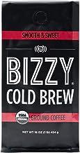 Bizzy Organic Cold Brew Coffee   Smooth & Sweet Blend   Coarse Ground Coffee   1 LB