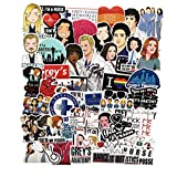 50PCS Grey's Anatomy TV Stickers Laptop Computer Bedroom Wardrobe Car Skateboard Motorcycle Bicycle Mobile Phone Luggage Guitar DIY Decal (Grey's Anatomy 50)