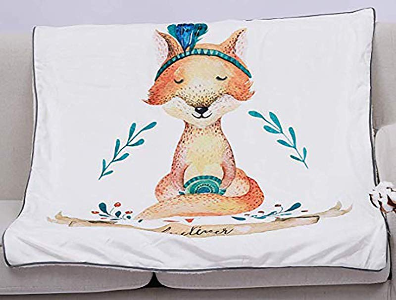 Baby Toddler Blanket Bed Blanket Plush Flannel Throw Oversized 45x61 Inches Double Layer Fleece Fit In All Seasons Fox