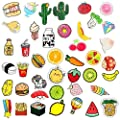 MJartoria 40+PCS Cute Cartoon Acrylic Lapel Pins for Backpack Aesthetic Fruit Brooch Badge Pin Set for Clothing Bags Clothing Bags Jackets