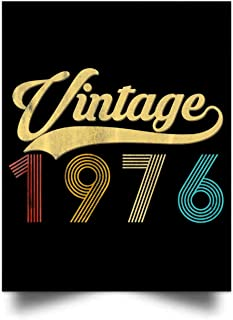 chillylkst Vintage 1976 43th Birthday Gift for Men Women Wall Art Print Poster Home Decor(17x22)