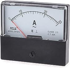 DC 0-50A Rectangle Analog Panneau Amp/èrem/ètre Gauge Ampere M/ètre Testeur