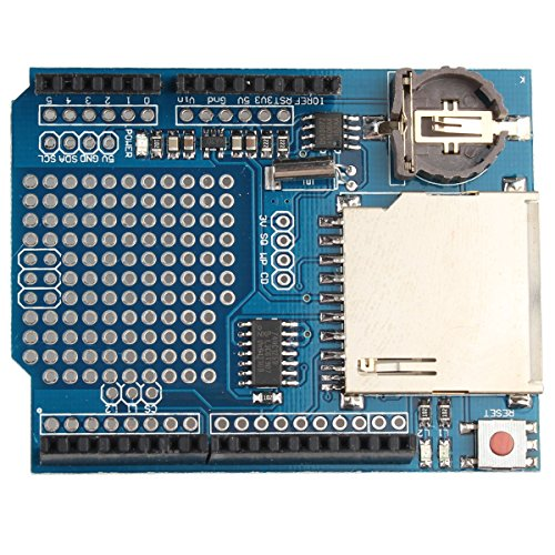 HALJIA Logging Recorder Shield Data Logger Module Data Logging shield Compatible with Arduino UNO SD Card