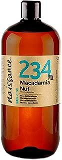 Naissance Aceite Vegetal de Macadamia 1 Litro - 100% puro, vegano y no OGM