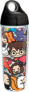 Tervis 1267940 Harry Potter - Group Charms Tumbler with Wrap and Black with Gray Lid 24oz Water Bottle, Clear