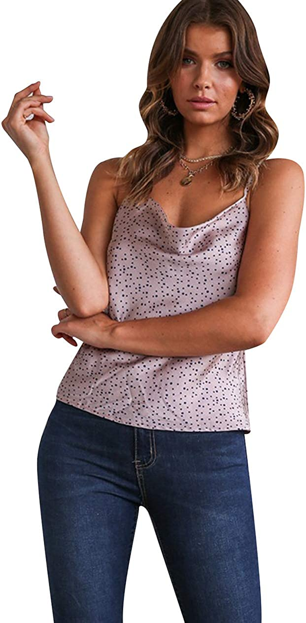 OMZIN D/ébardeur pour Femmes Piebo Femmes T-Shirt sans Manches Blouse Camisole D/ébardeur Shirt Out S-3XL