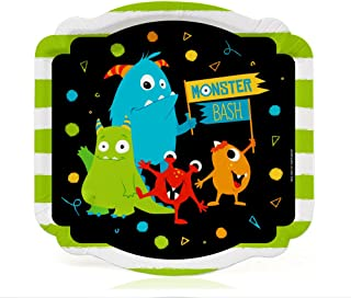 Big Dot of Happiness Monster Bash - Little Monster Birthday Party or Baby Shower Dessert Plates (16 Count)