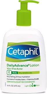 Cetaphil Daily Advance Ultra Hydrating Lotion For Dry/sensitive Skin, Fragrance Free, 16 Fl Oz (Pack of 2)