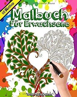 Malbuch für Erwachsene: 60+ Motive in 4K !! Der beste Mix aus fantasievollen Mandalas, Tieren, Zentanglen, Kreaturen, Pflanzen uvm... Perfekt zum ... Schwierigkeitsstufen (20 cm * 25 cm)