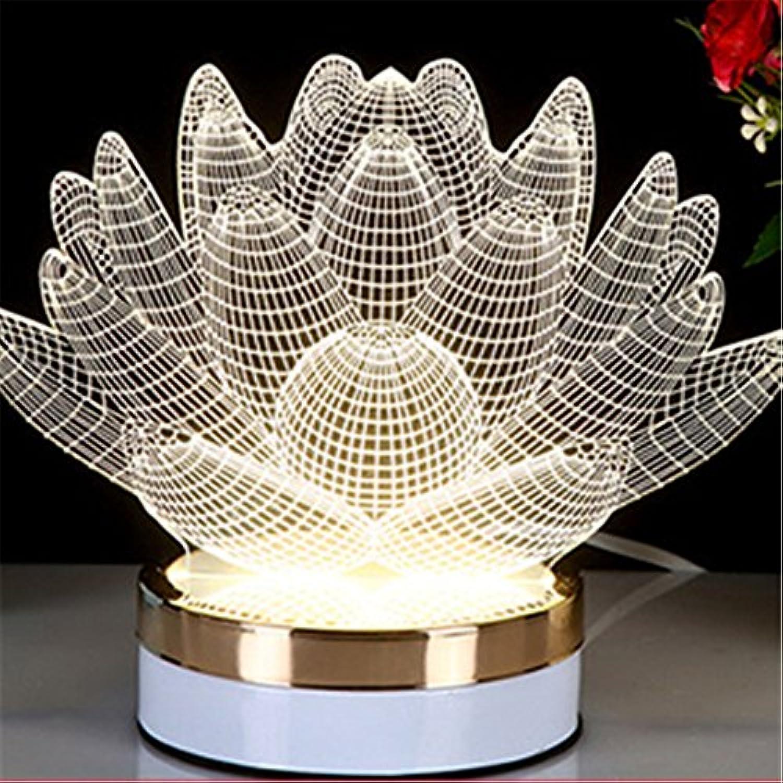 Tisch Nachttischlampen,3 Farben LED Nachtlicht 3D Acryl Visual Illusion lampe Neuheit kreative Tischleuchte für Arten Schlafzimmer Leuchten, F