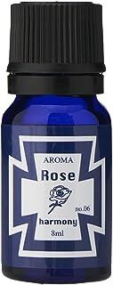 ブルーラベル アロマエッセンス8ml ローズ(アロマオイル 調合香料 芳香用 幸せな気持ちになる華やかな香り)