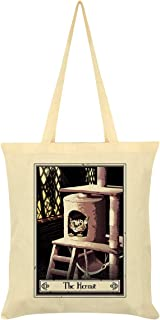 Deadly Tarot Felis - The Hermit Tote Bag Cream 38 x 42cm