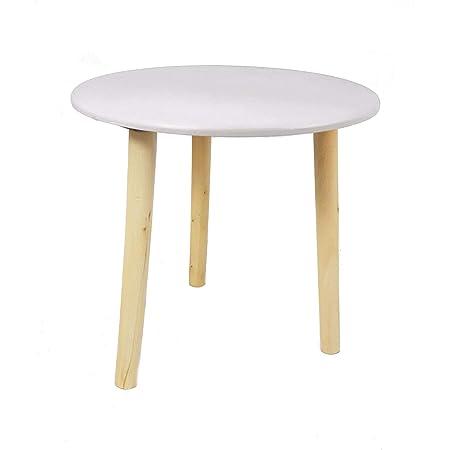 Table décorative en bois, 30 x 30cm, couleur: taupe, petite table d'appoint, table basse, table de canapé, tabouret à fleurs