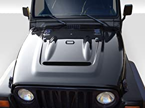Extreme Dimensions Duraflex Replacement for 1997-2006 Jeep Wrangler Heat Reduction Hood (fits All Models Without Highline fenders) - 1 Piece