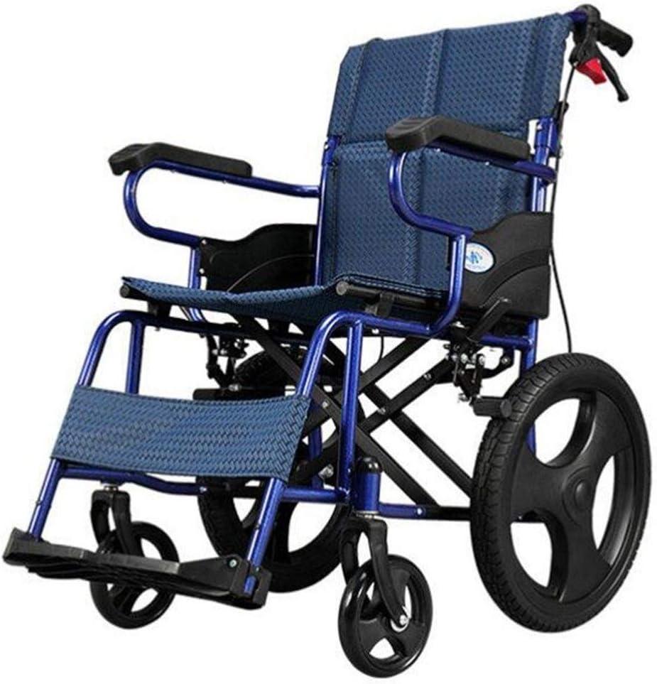Silla de Ruedas Plegable, Scooter de Movilidad súper Ligero Aleación de Aluminio Plegado rápido Rueda no neumática Estable y Resistente Trolley para discapacitados Scooter para Ancianos, portátil