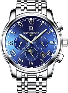 Mens Swiss Automatic Movement Watches,Stainless Steel Waterproof Wrist Watch