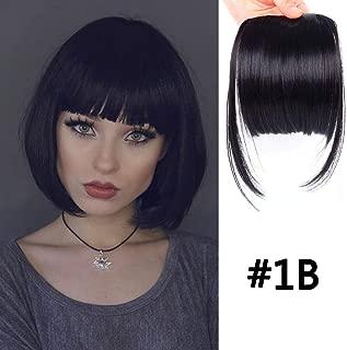 LEEONS Clip on Bangs Black Fringe Hair Extensions 6
