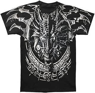 Liquid Blue Mens 31732-Black-XXX-Large Dragon Catcher T-Shirt Short Sleeve T-Shirt