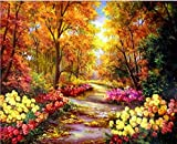 FBDBGRF Pintar por Número Flores por Todas Partes para Adultos Y Niños DIY Kit De Regalo De Pintura Al Óleo con Juego De Pintura Digital para Decoración del Hogar Lienzos para Pintar