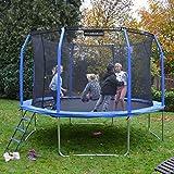 Gartentrampolin Ø 366 cm, Trampolin-Set: Sprungmatte, Sicherheitsnetz mit bogenförmigen...