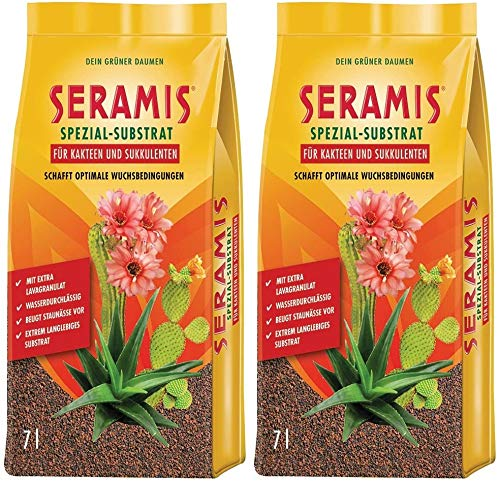 Seramis - Sustrato de arcilla para plantas de repuesto para cactus y plantas suculentas, substrato especial, 14 litros