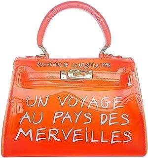 Wiwsi Girls PVC Transparent Handbag Shoulder Bag Clear Jelly Purse Clutch Tote