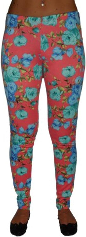 Floral print leggings CORAL